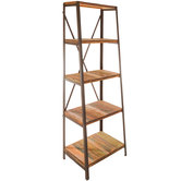 Antique Panel Five-Tiered Shelf